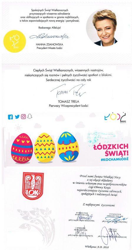 2018.04. życzenia Wielkanocne