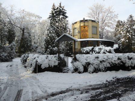 Strzelnica ŁTSBK zimą
